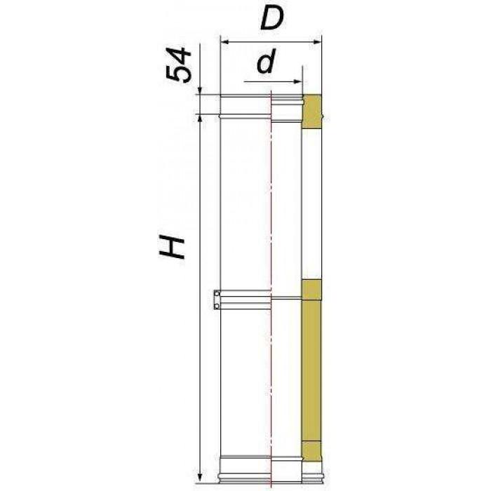 Чертеж Труба телескопическая DTTH 500 (Вулкан)