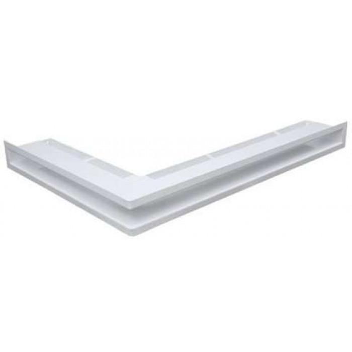 Белый Решетка каминная Люфт угловая правая 60 (Kratki)