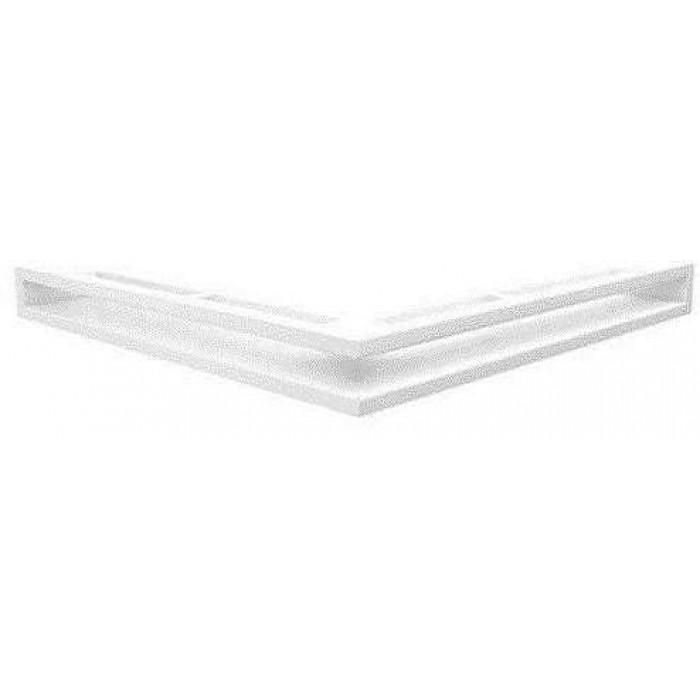 Белый Решетка каминная Люфт угловая стандарт 60 (Kratki)
