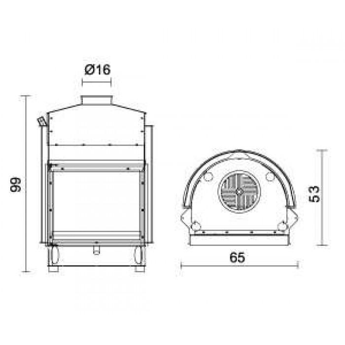 Чертеж Топка IDRO 30 (Edilkamin)
