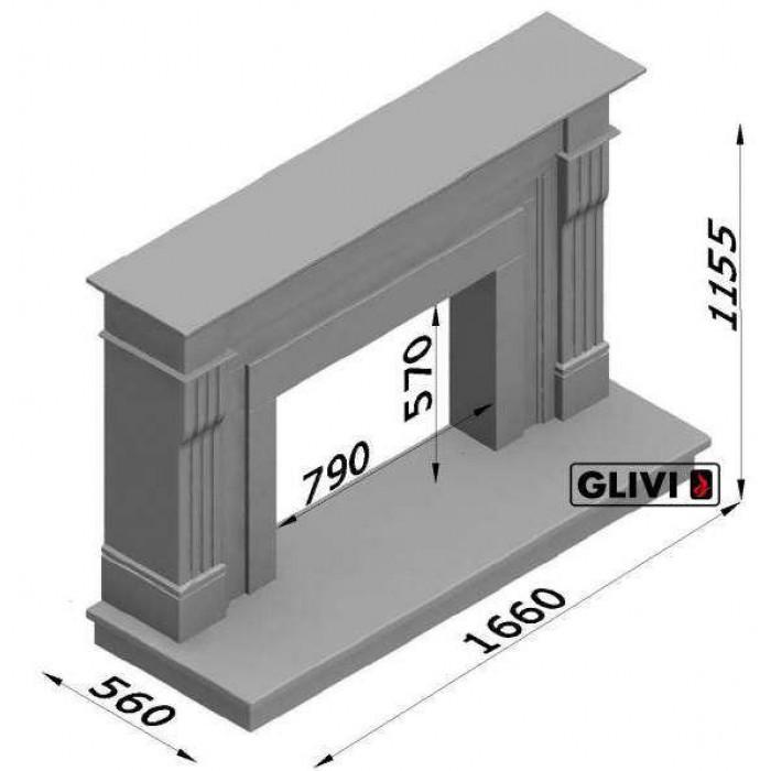 Чертеж Камин РЕГАТ (Glivi)