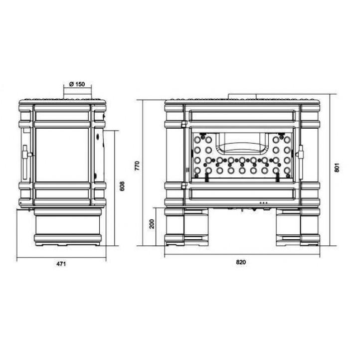 Чертеж Печь Angor (Invicta)