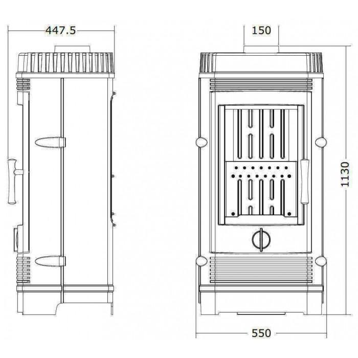 Чертеж Печь Gomont 12000 (Invicta)