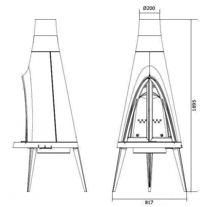 Чертеж Печь Pow-Wow (Invicta)