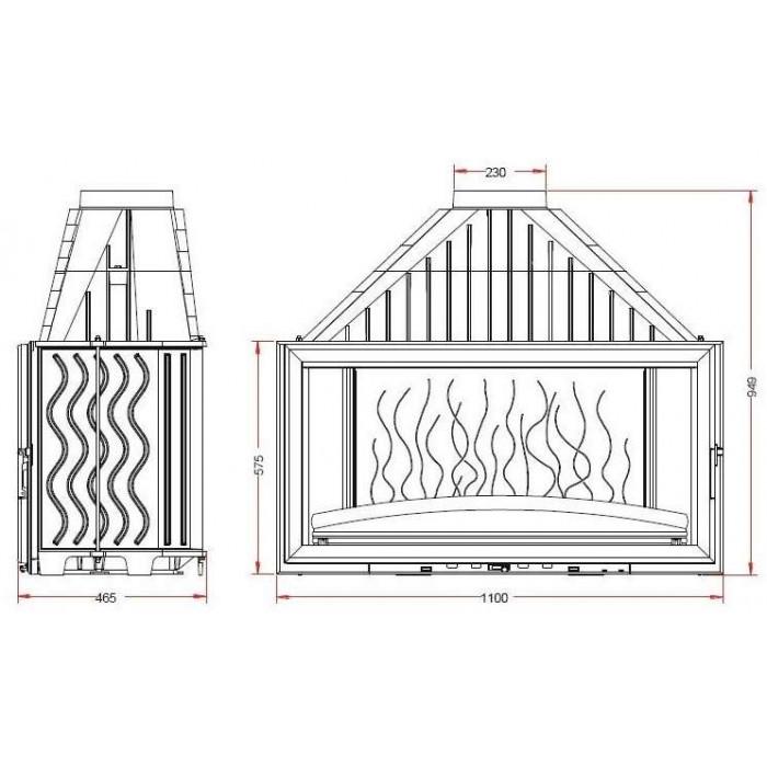 Чертеж Топка Grand Vision 1100 (Invicta)