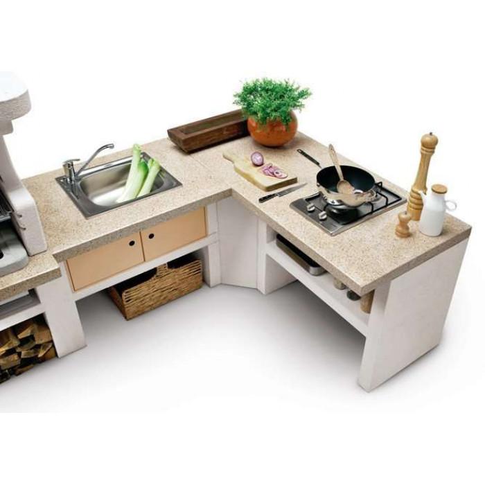 Угловой столик Барбекю Malibu 2 (Palazzetti)