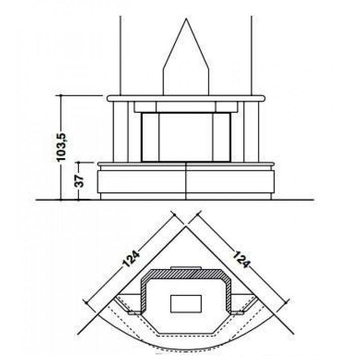 Чертеж Камин MONTECARLO Corner (Palazzetti)
