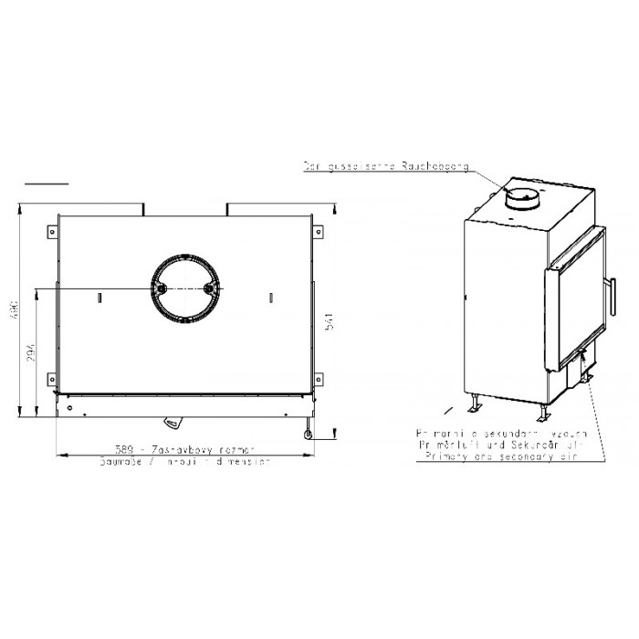 Чертеж Топка Heat 2G 59.50.01 (Romotop)