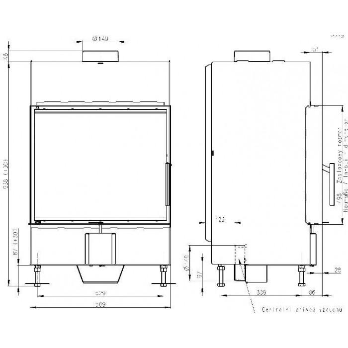 Чертеж 2 Топка Heat 2G 59.50.01 (Romotop)
