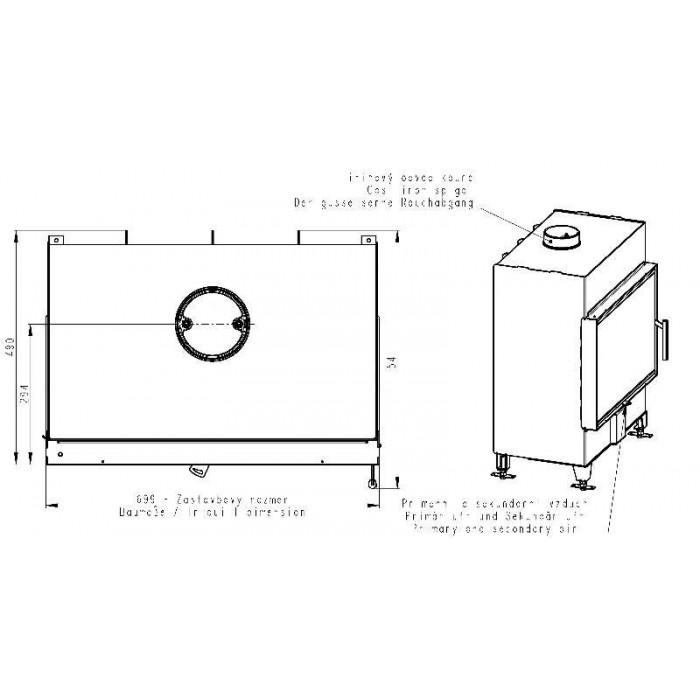 Чертеж 2 Топка Heat 2G 70.50.01 (Romotop)