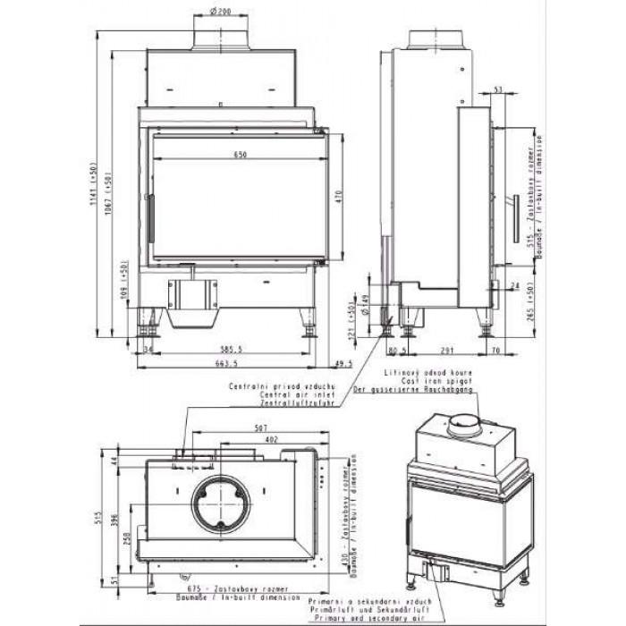 Чертеж Топка Heat R/L 2G S 65.51.40.21 (Romotop)