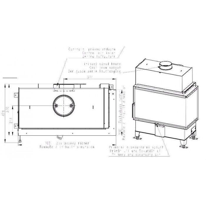 Чертеж Топка Heat R/L 2G S 70.44.33.23 (Romotop)