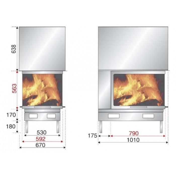 Чертеж Топка AX-EPI 950 (Axis)