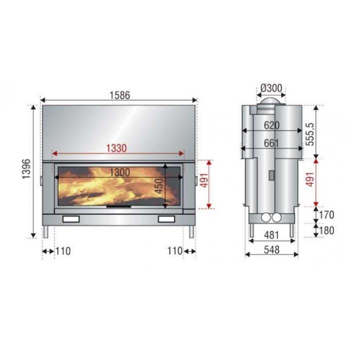 Чертеж Топка AX-FH 1600DF (Axis)