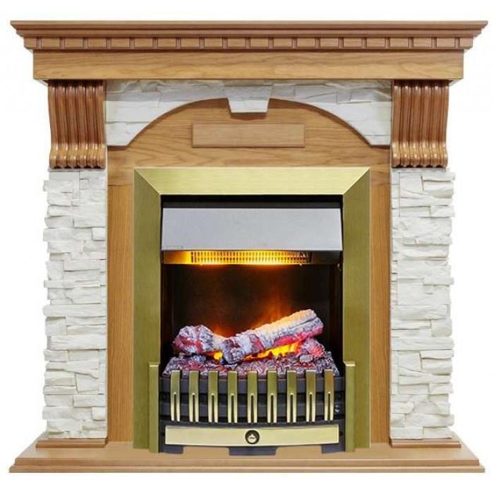 Портал Dublin арочный сланец белый Дуб (Royal Flame)
