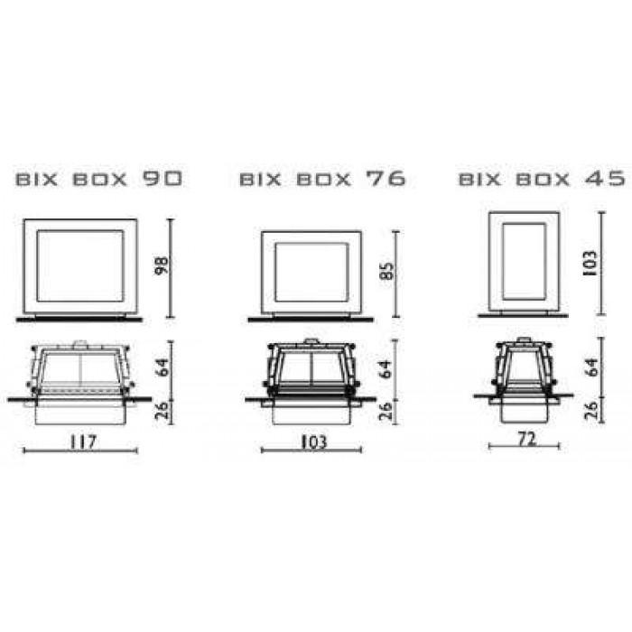 Чертеж Камин BIX BOX (Edilkamin)
