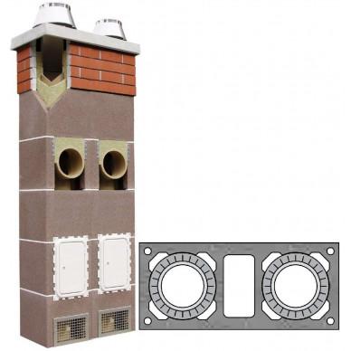 Комплект двухходовой с вентканалом Ø160/160 (Schiedel)