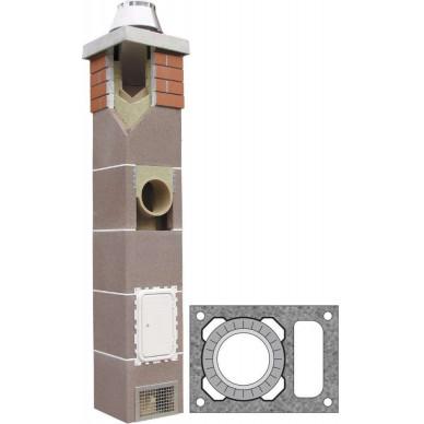 Комплект одноходовой с вентканалом Ø200 (Schiedel)