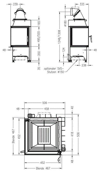 Чертеж Топка Mini 2L/2R-4S (Spartherm)