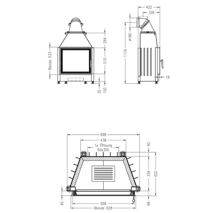 Чертеж Топка Mini S-4S (Spartherm)
