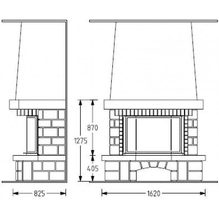Чертеж Камин AURIAC 97 (Supra)