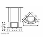 Чертеж Камин DORIS 80 (Supra)