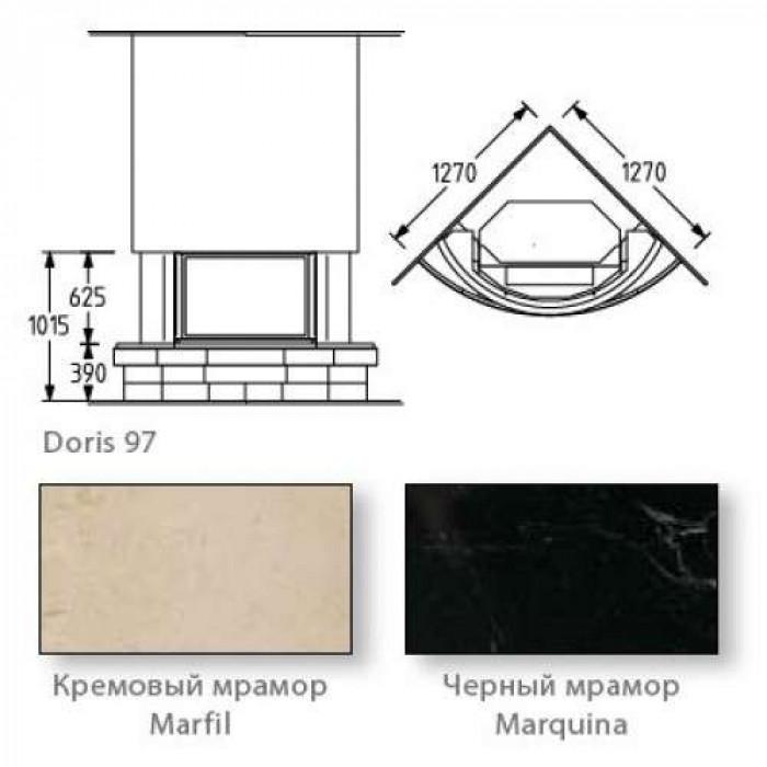 Чертеж Камин DORIS 97 (Supra)