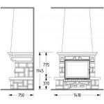Чертеж Камин SARDANE 76 (Supra)